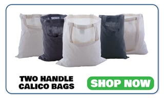 Two Handle Calico Bags Shop Now Button