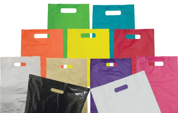 Plastic Carry Bags with Die Cut Handle