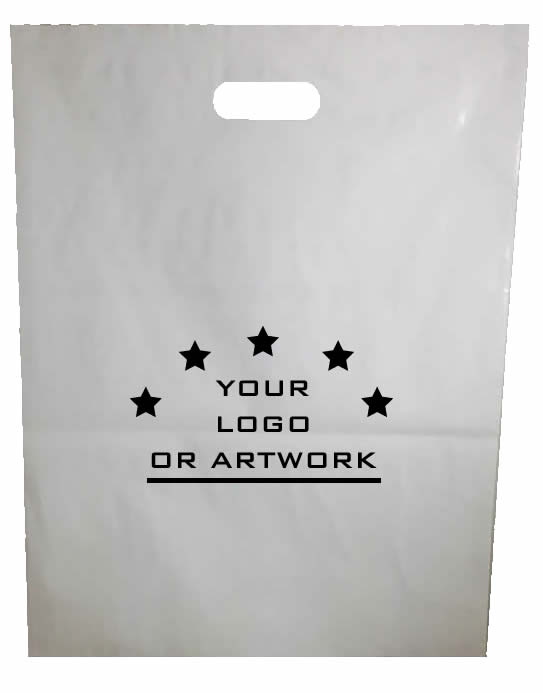 Plastic White Carry Bags Printed
