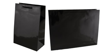 Black Paper Gloss Laminated Carry Bags