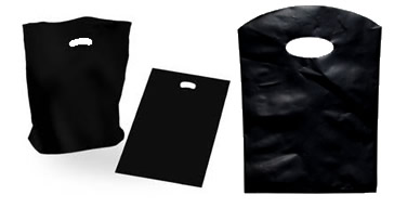 Black Plastic  Carry Bags