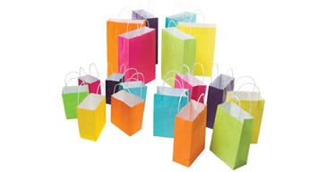 Coloured Paper Carry Bags  with Handles