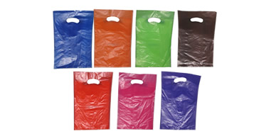 Coloured Plastic Carry Bags