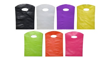 Curve Top Plastic Carry Bags - 30% OFF WHILE STOCKS LAST!