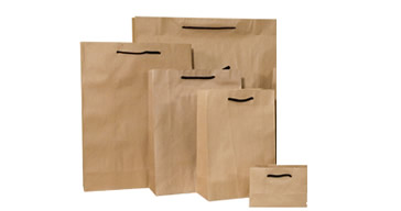 Deluxe Brown Paper Bags Cotton Handles