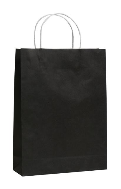 Black Paper Bags Stylish Retail Packaging Qis Packaging