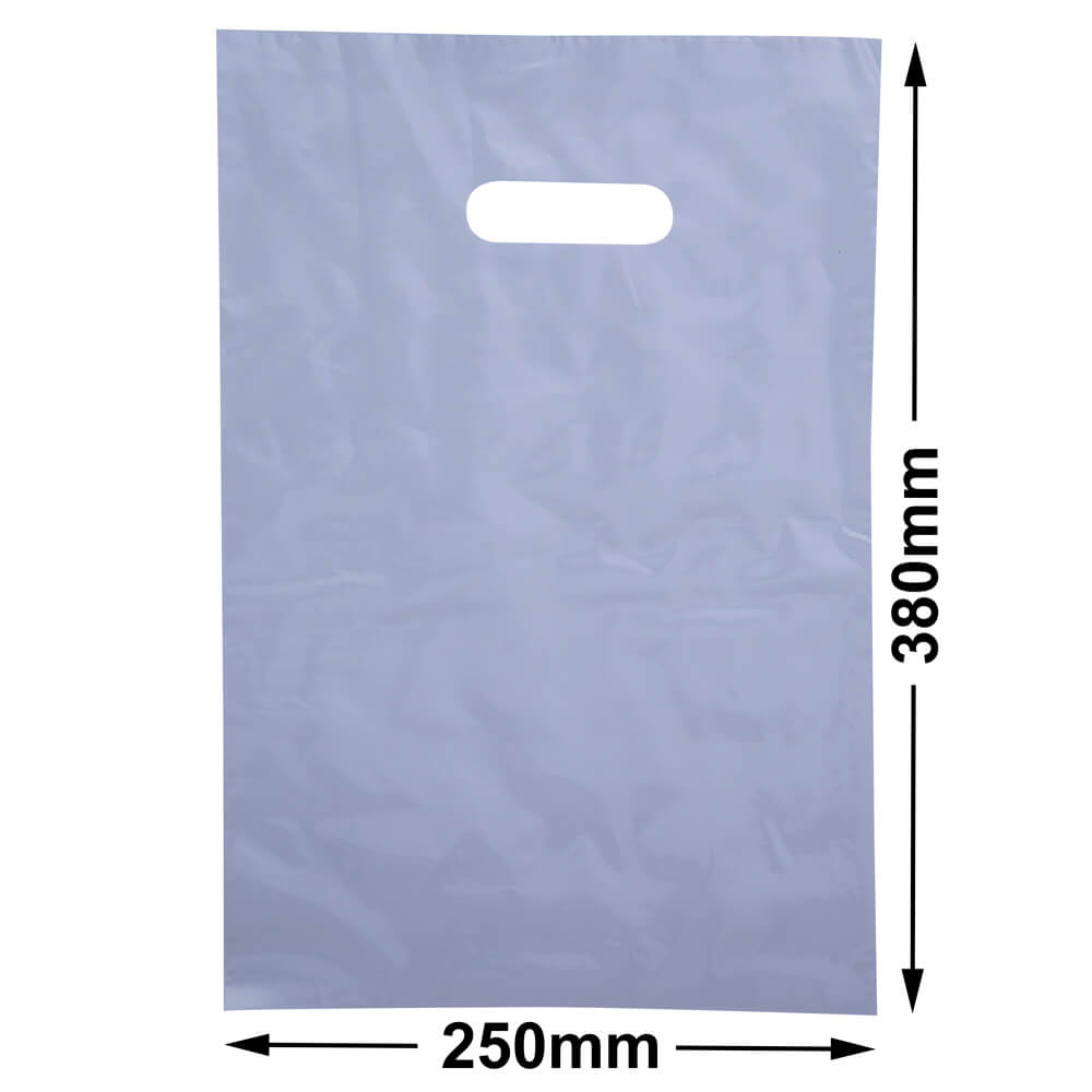 Medium Plastic Carry Bag<br>Clear 250 x 380 *Pack 100*