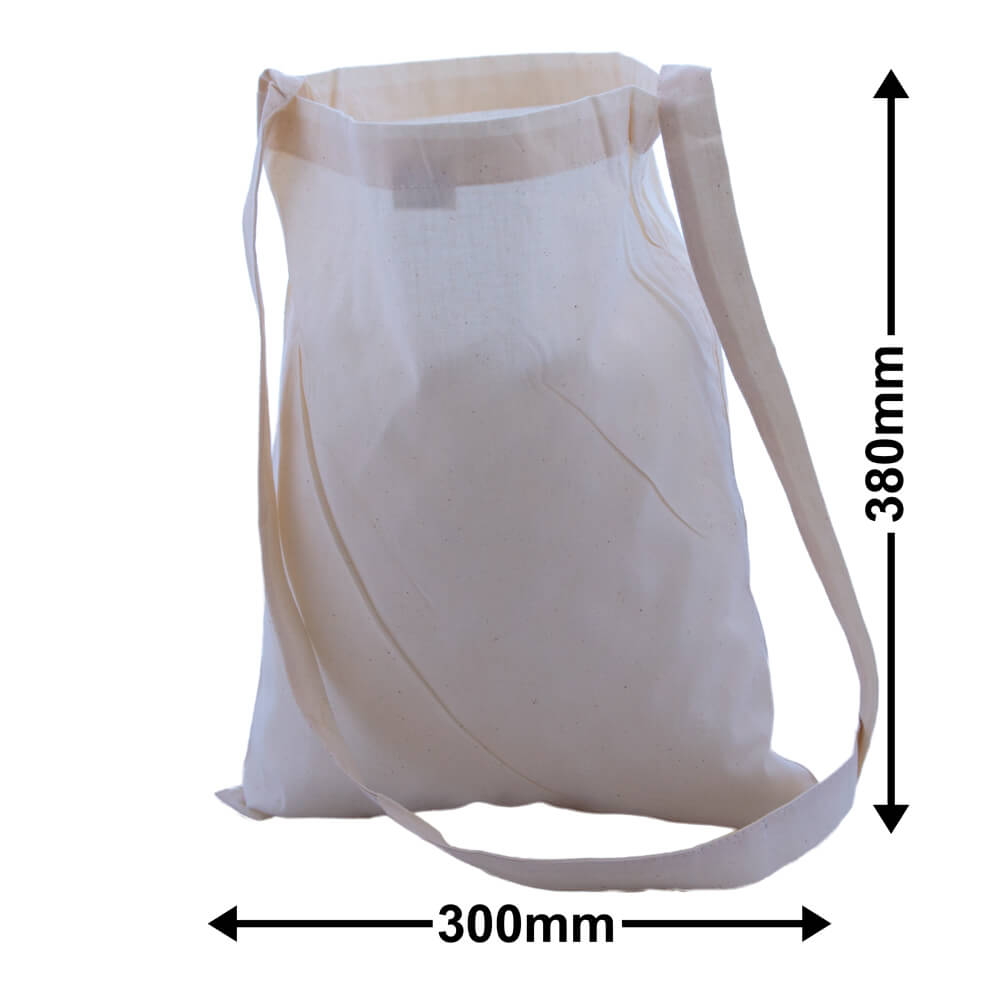 Calico Bags Shoulder Strap 300mm x 380mm (PACK50)