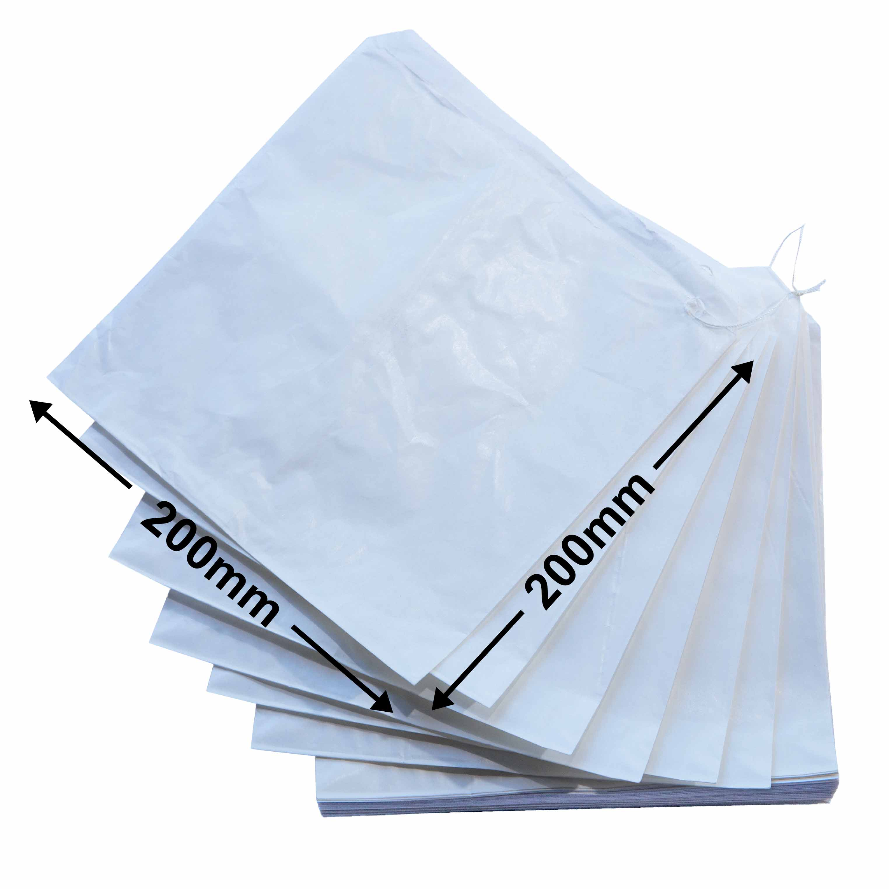 White Flat Paper Bags<br>245 x 200 *packs 500*