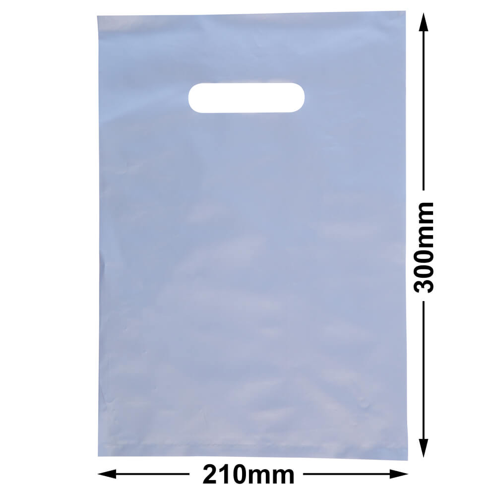 Small Plastic Carry Bag<br>Silver 210 x 300 *Pack 100*