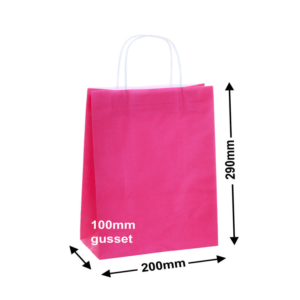 Paper Carry Bags Pink<br>200x290 + 100