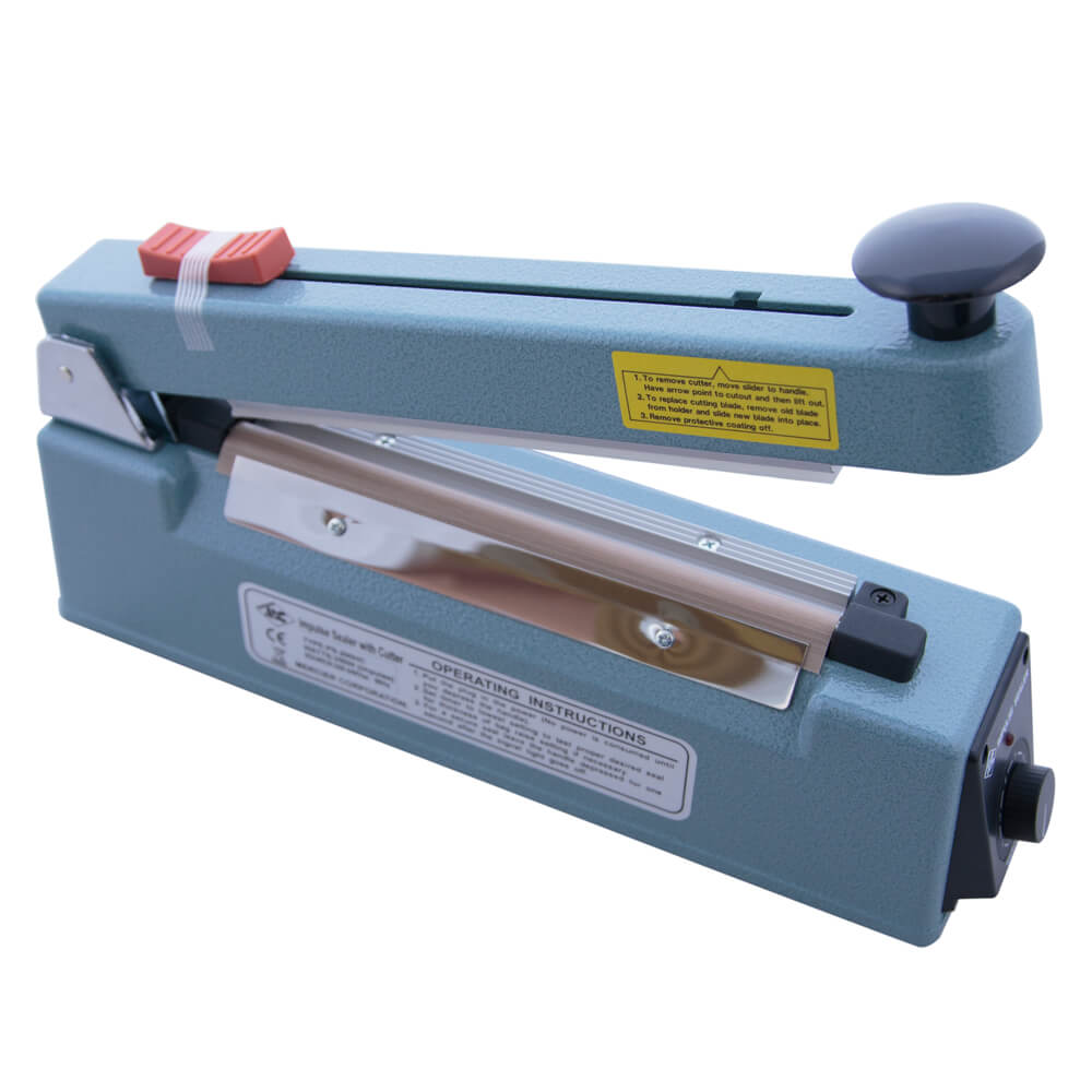 HEAT IMPULSE SEALER WITH CUTTER 200MM WIDE**OUT OF STOCK UNTIL MID NOVEMBER**