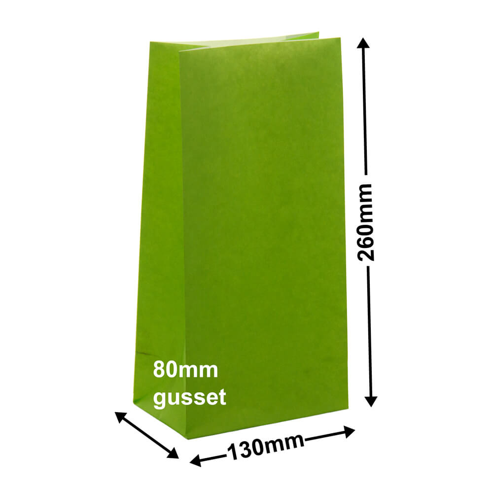 Paper Gift Bags Lime 130x260+80 - no handles