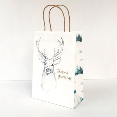 Christmas Paper Bag<br>Stag Forest Junior