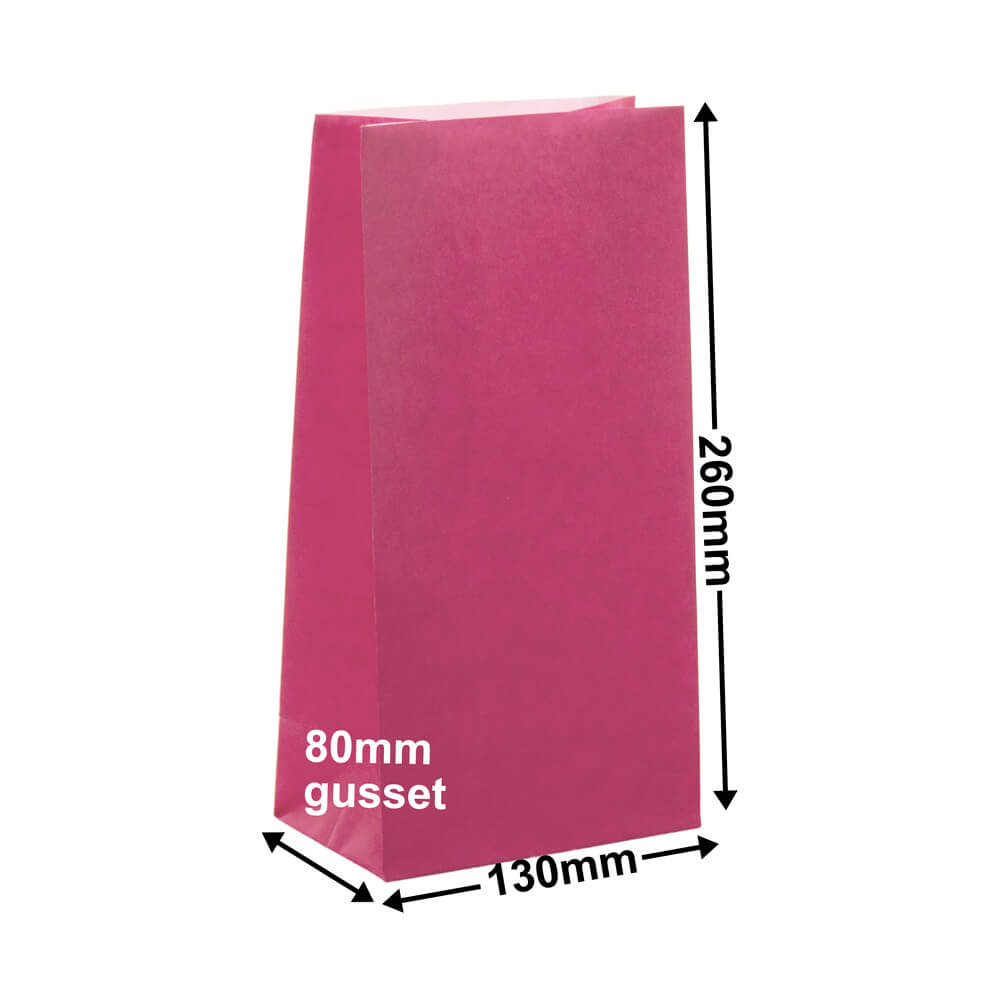Paper Gift Bags Pink 130x260+80 no handles