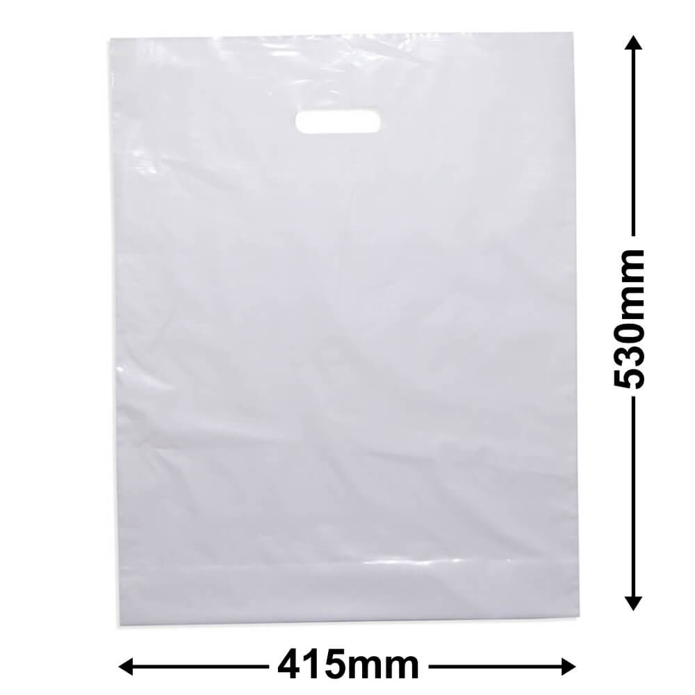 Extra Large Plastic Bag<br>White + Gusset *Pack 100*