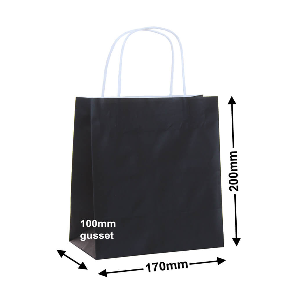 Paper Carry Bag Black<br>170 x 200 + 100