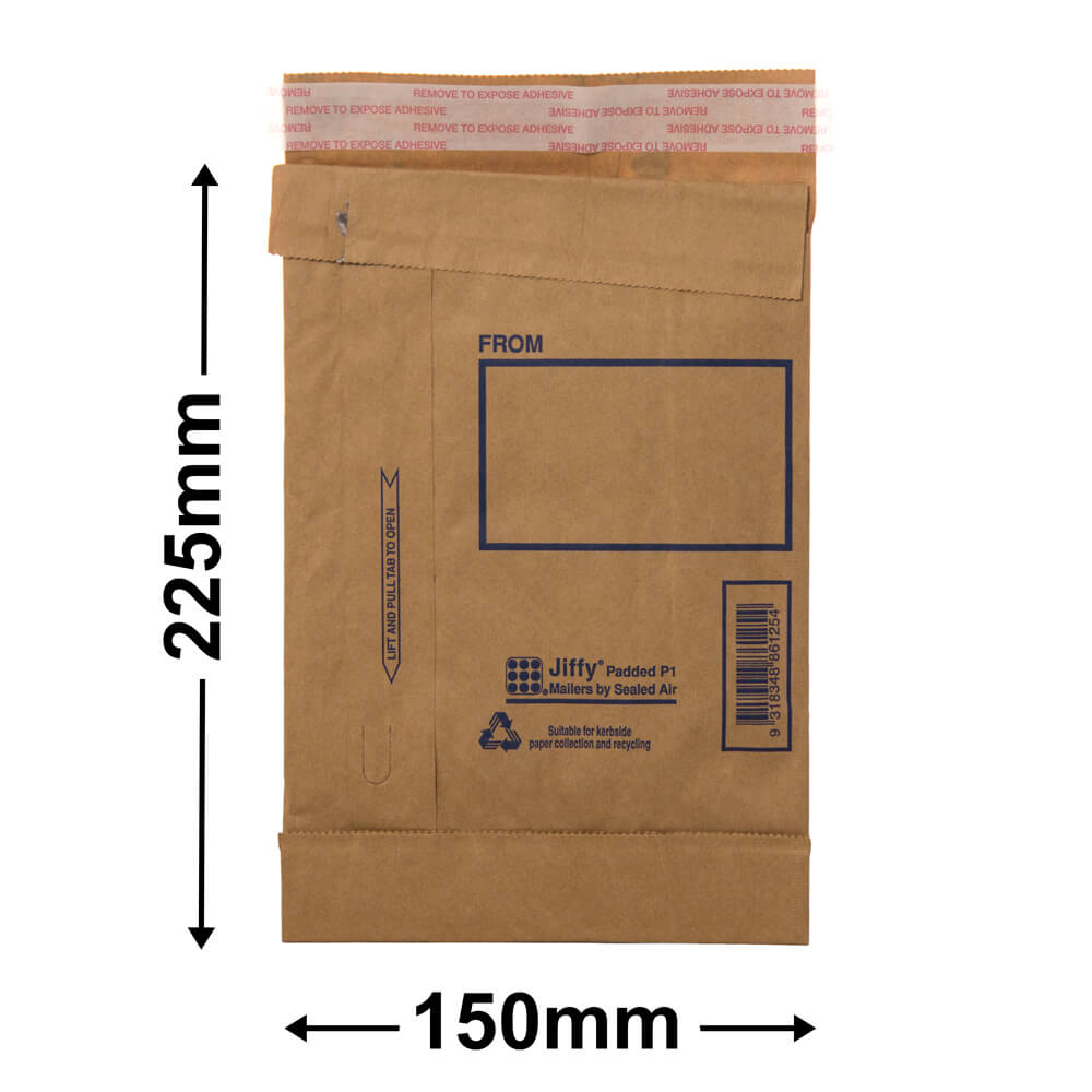 Jiffy Padded Bag - Size 1<br>225 x 150 - *Carton 200*