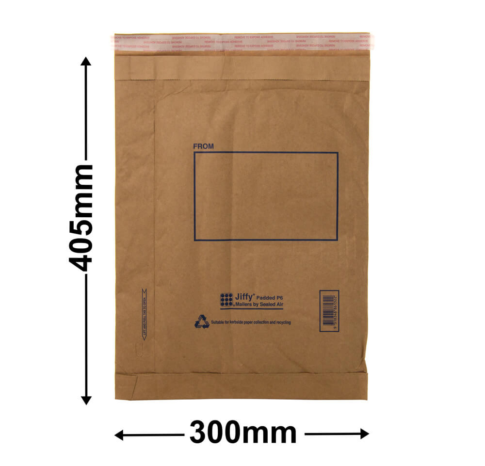 Jiffy Padded Bag - Size 6<br>405 x 300 - *Carton 50*