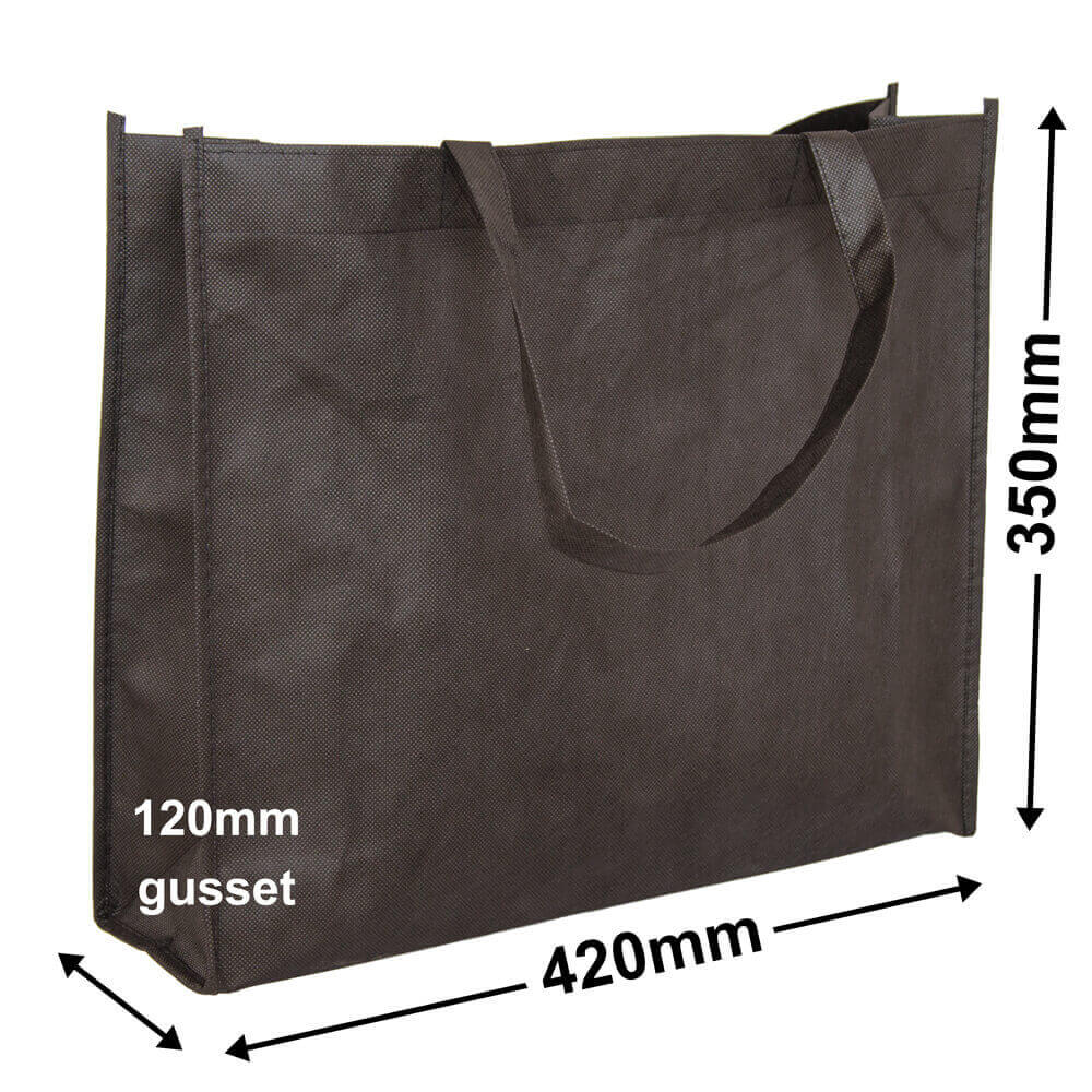 Black Reusable Non Woven Polypropylene fabric bag