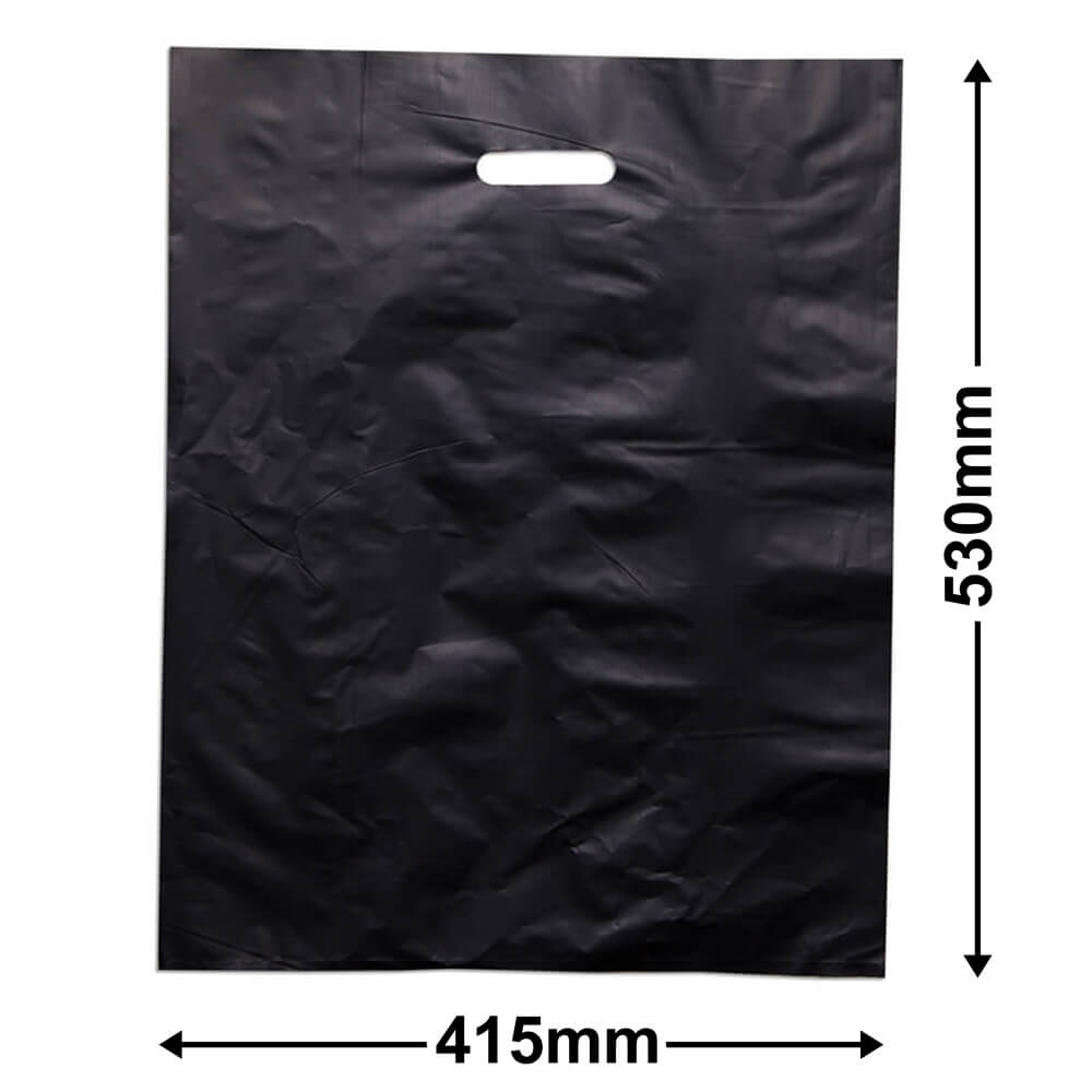 Large Plastic Carry Bag<br>Black 415 x 530 *Pack 100*