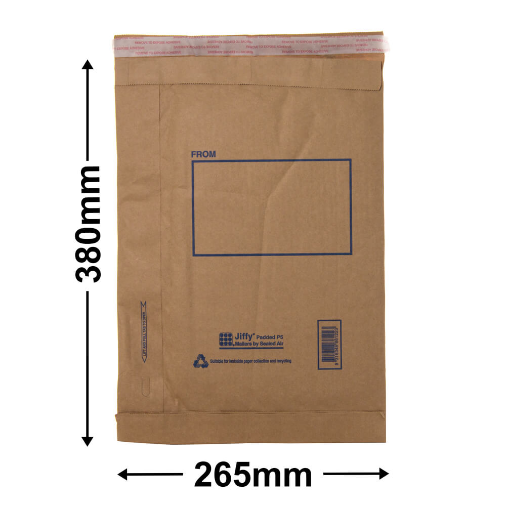 Jiffy Padded Bag - Size 5<br>380 x 265 - *Carton 100*