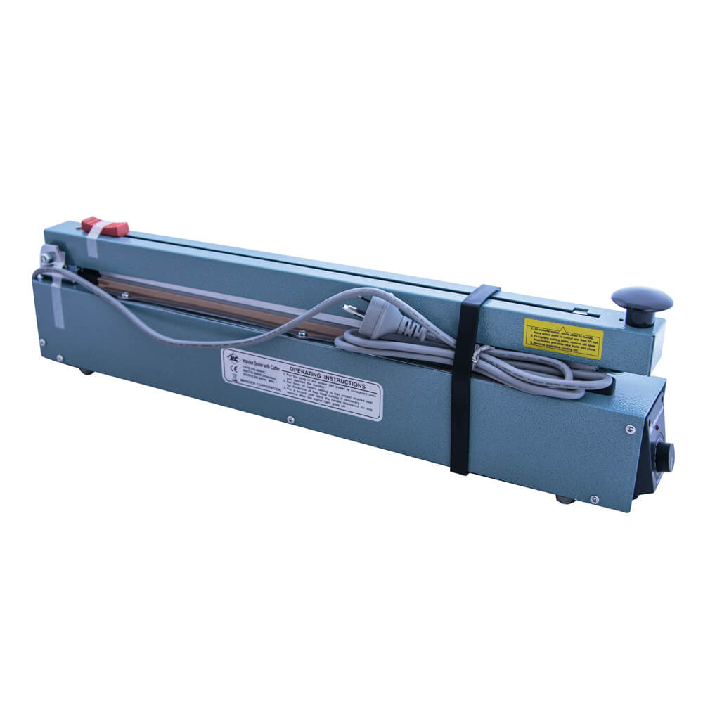 HEAT IMPULSE SEALER<BR>WITH CUTTER 500MM WIDE