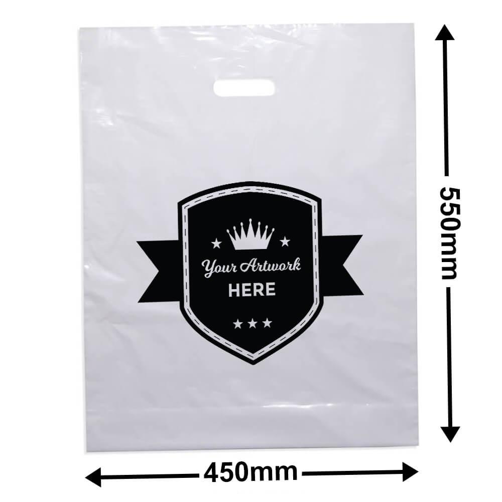Extra Large Plastic Carry Bag Printed 1 colour 1 side