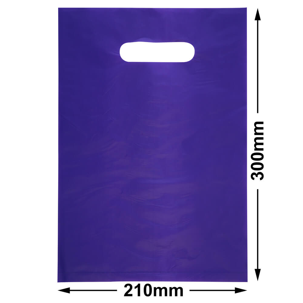 Small Plastic Carry Bag<br>Purple 210 x 300 *Pack 100*