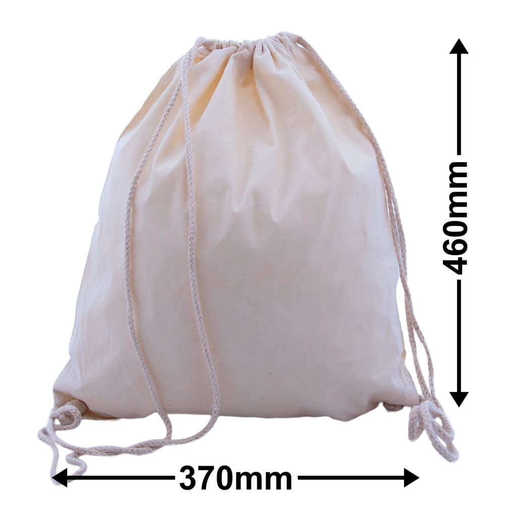 Backpack - Calico Bags Drawstring 370mm x 460mm (PACK50)