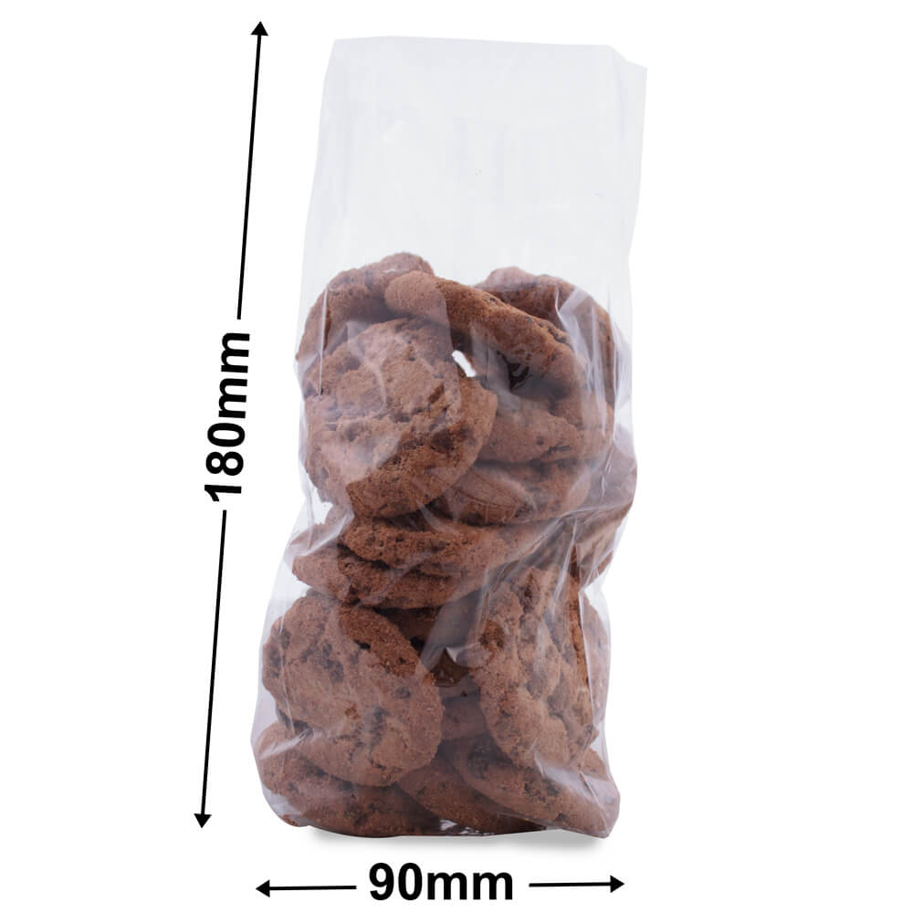 Cellophane Bags - Size 19 - 90 x 180 + 25mm side gusset