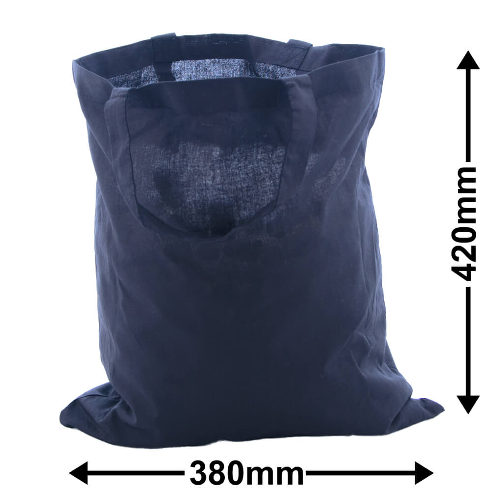 Calico Black Bags Two Handles 380mm x 420mm (PACK50)