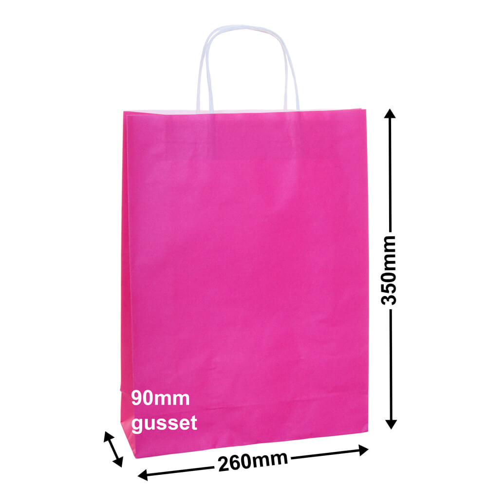 Paper Carry Bag Pink<br>260x350 + 90