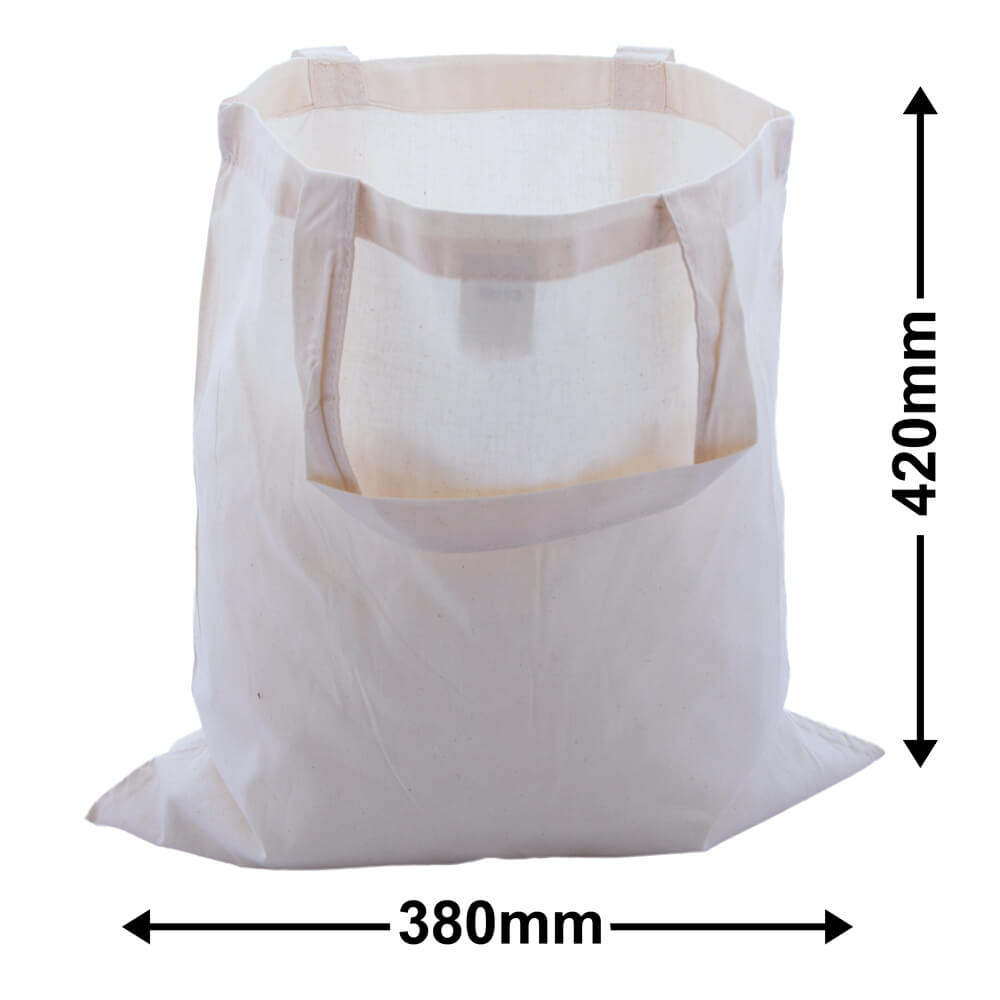 Calico Bags Two Handles 380mm x 420mm (PACK50)