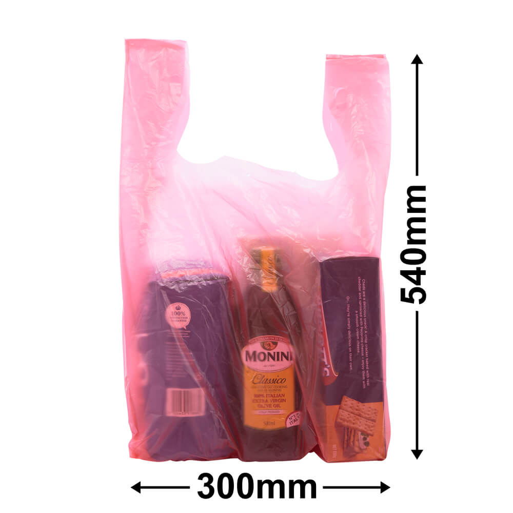 Singlet Checkout Bags<br>Large Red Carton 2,000