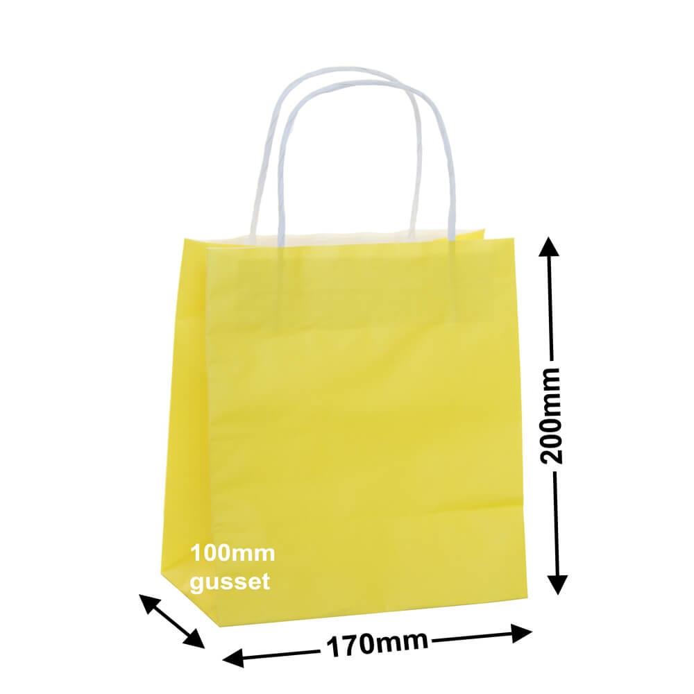 Paper Carry Bag Yellow<br>170x200 + 100