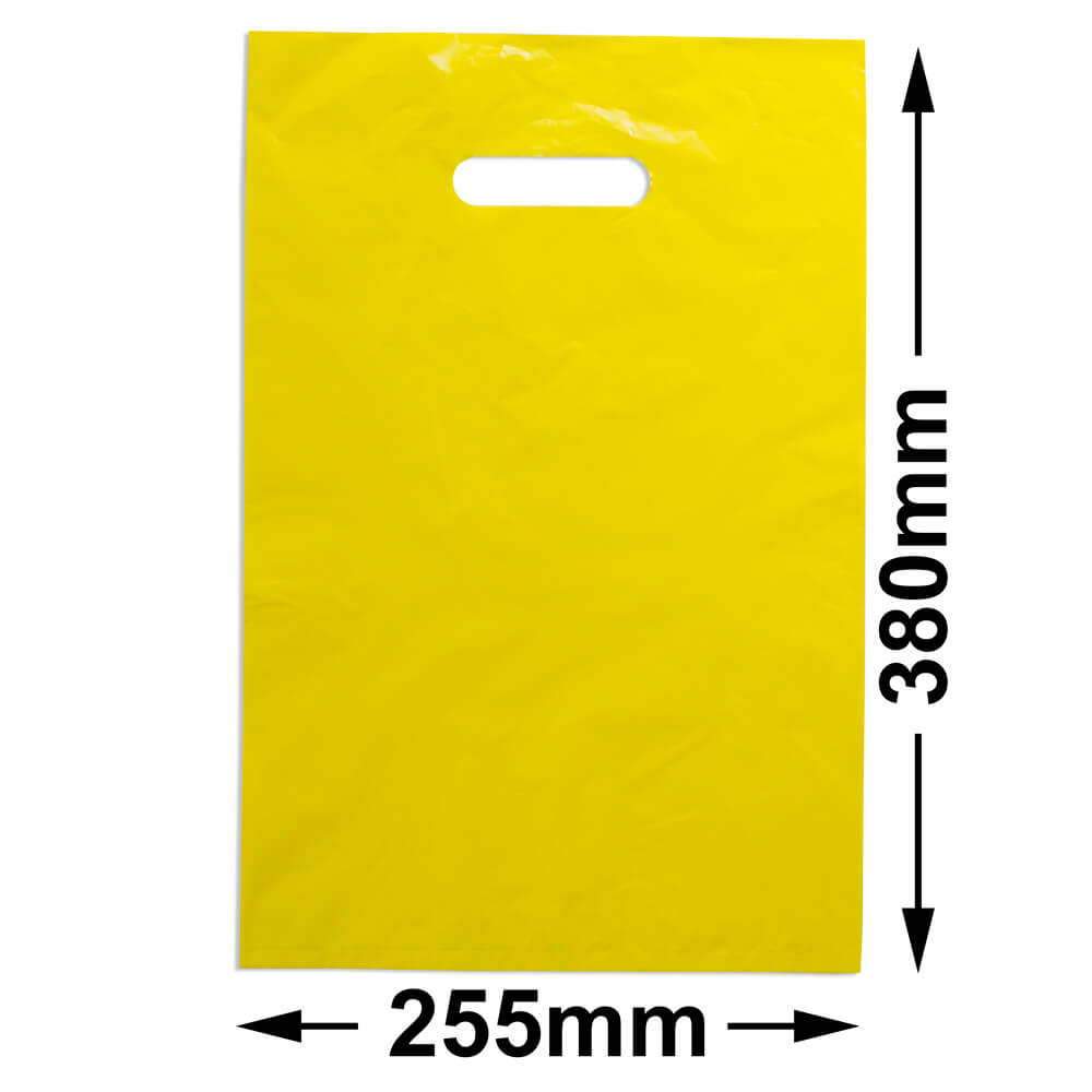 Medium Plastic Carry Bag<br>Yellow 255 x 380 *Pack 100*