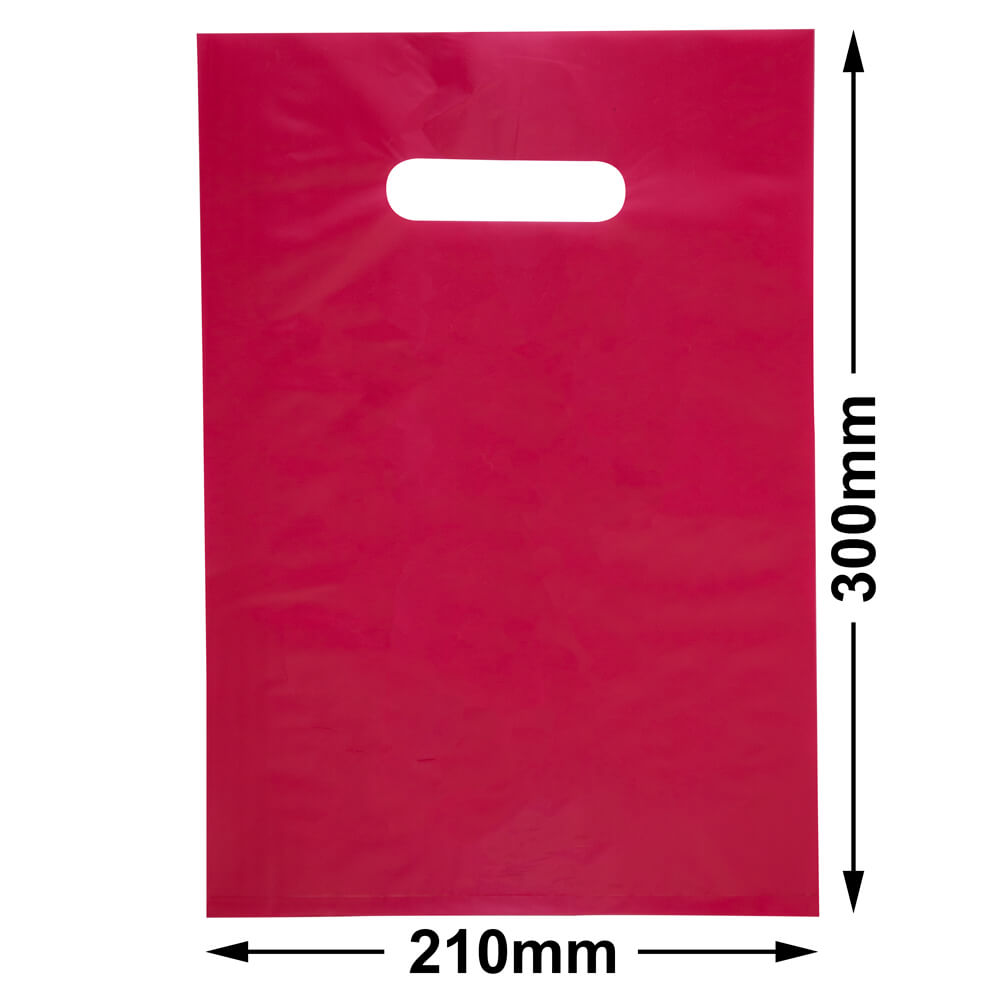 Small Plastic Carry Bag<br>Red 210 x 300 *Pack 100*