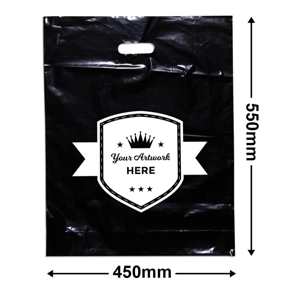 Extra Large Black Plastic Bag Printed 1 colour 1 side