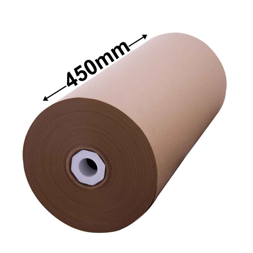 Brown Kraft Paper Roll - 450mm x 235m - 80gsm