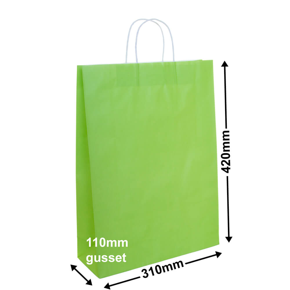 Paper Carry Bag Lime<br>310x420+110