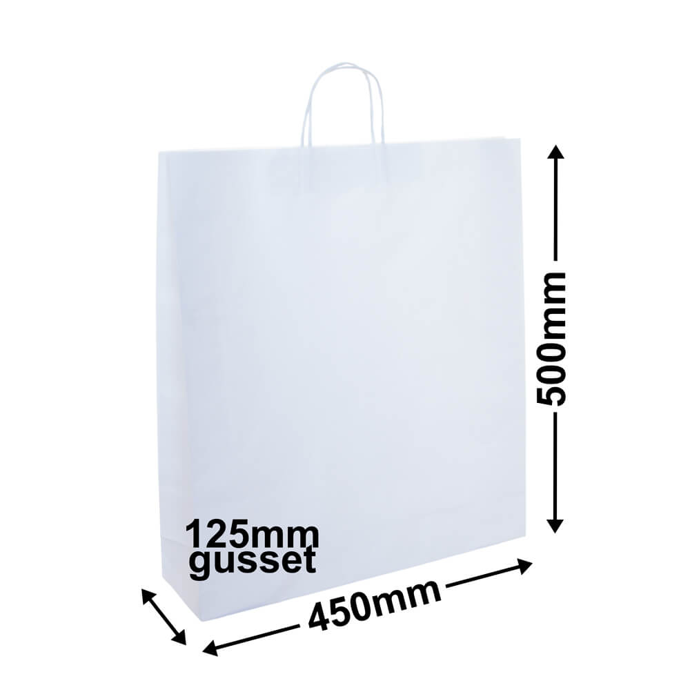 White Paper Retail Bag 450x500+120 *Pack 25*