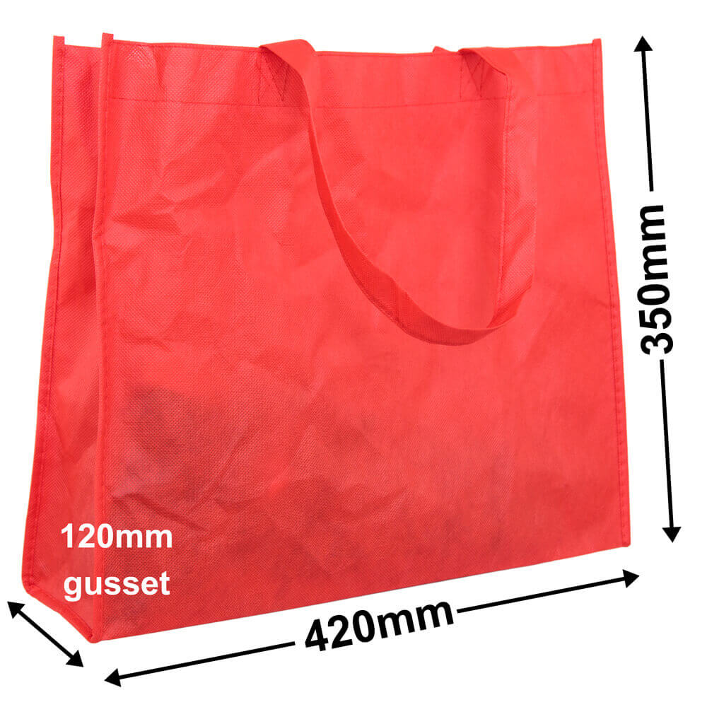 Red Reusable Non Woven Polypropylene fabric bag