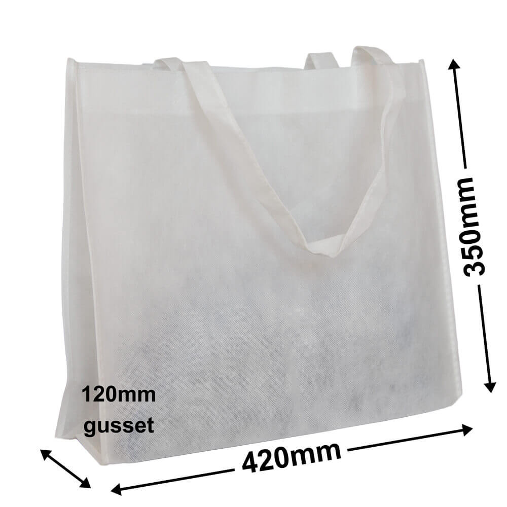 White Reusable Non Woven Polypropylene fabric bag