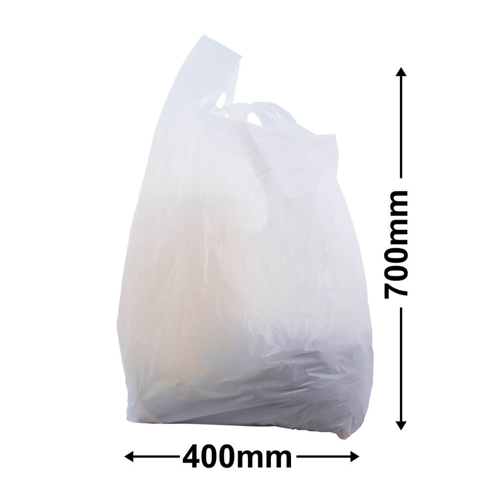 Singlet Checkout Bags<br>Jumbo White Carton 1000