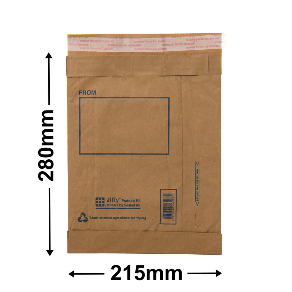 Jiffy Padded Bag - Size 2<br>280 x 215 - *Carton 100*