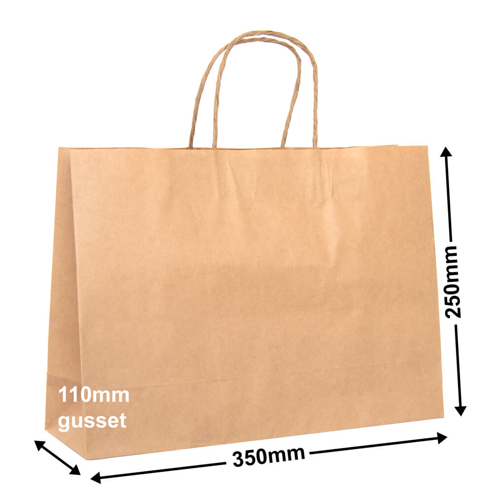 Boutique Brown Paper Bag<br>350 x 250 - *Pack 50*