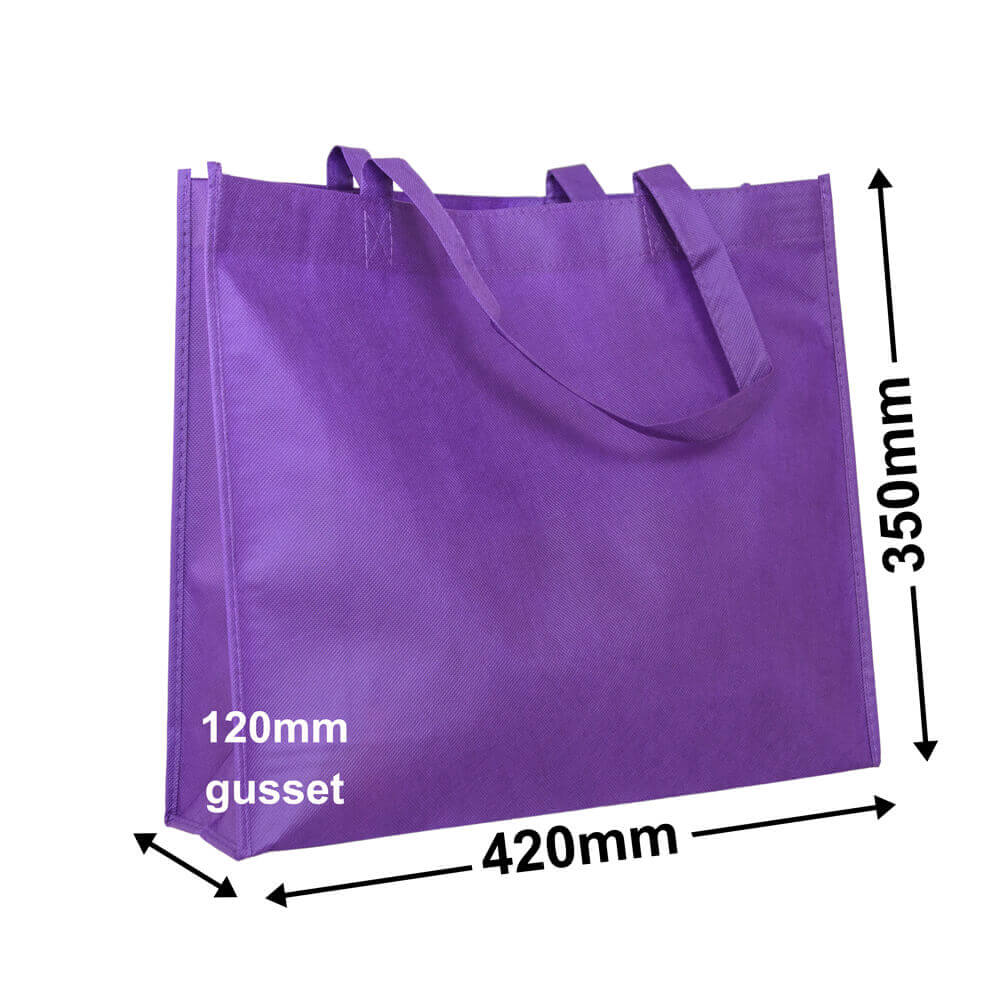 Purple Reusable Non Woven Polypropylene bag