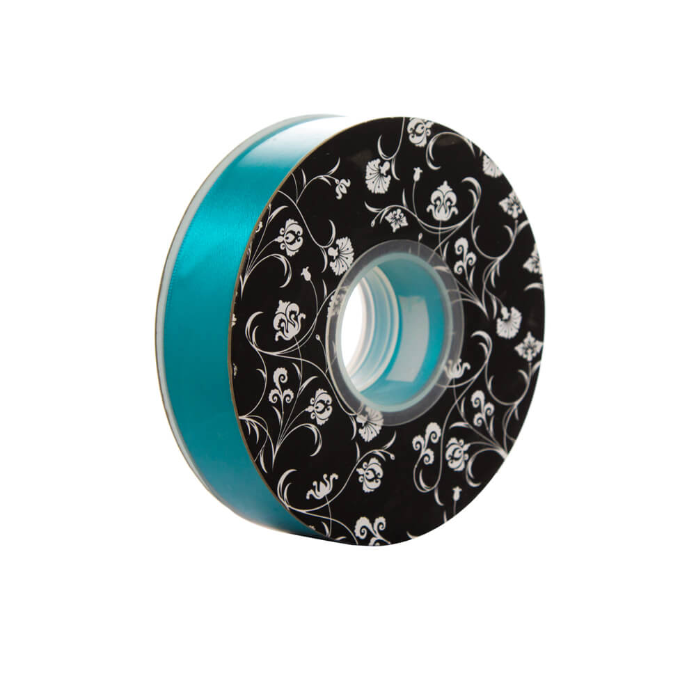 Double sided Satin Ribbon <br>Teal<br>25mm wide x 30m per roll