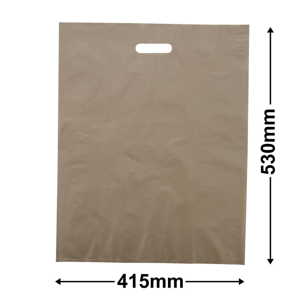 Large Plastic Carry Bag<Br>Gold 415 x 530 *Pack 100*